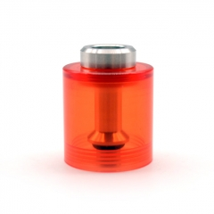 ULTON Replacement PMMA Bell Cap w/Short Chimney for FEV 3/4/4.5 Atomizer 3.5ml- Red