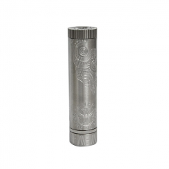 Chrome Hearts V2 Style 24mm 18650 Mechanical Mod - Silver