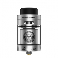 Authentic GeekVape Zeus Dual RTA 26mm Rebuildable Tank Atomizer TPD Edition 2ml - Silver