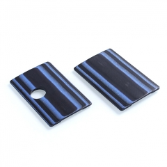 SJMY Replacement Front + Back Cover Panel for SXK BB Style Box Mod - Blue+ Black