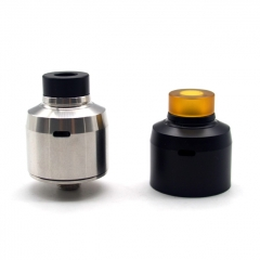 ULTON Krma Style 22mm 316SS RDA Rebuildable Dripping Atomizer w/BF Pin - Silver