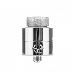 Authentic Ystar Levante 24mm RDA Rebuildable Dripping Atomizer w/BF Pin - Silver