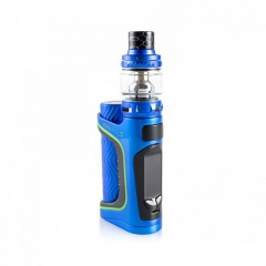 Authentic Eleaf iStick Pico S 100W TC VW Variable Wattage 18650/21700 Box Mod + ELLO VATE Tank Kit - Blue