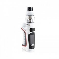 Authentic Eleaf iStick Pico S 100W TC VW Variable Wattage 18650/21700 Box Mod + ELLO VATE Tank Kit - White