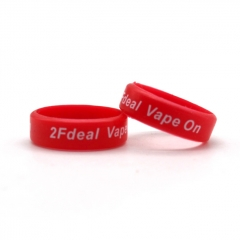 2Fdeal Vape On Bands for Ecig/Atomizer (2-PC) - Red White