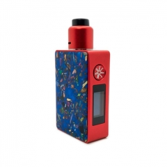 Authentic Asmodus Spruzza 80W TC VW Variable Wattage Squonk Box Mod + Fonte RDA + 6ml Bottle Kit - Blue+Red