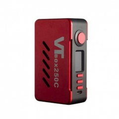 Authentic VapeCige VTBox DNA250C 200W Temperature Control  TC VW Box Mod - Red