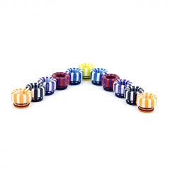 510 Replacement Resin Rainbow Drip Tip 1pc (AS144) - Random Color