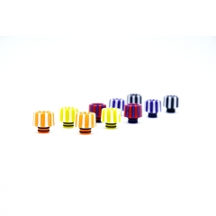 510 Replacement Resin Rainbow Drip Tip 1pc (AS145) - Random Color