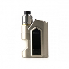 Authentic Nikola Niagara 200W VW Variable Wattage Squonk Box Mod + RDA Kit +6ml Bottle - Silver