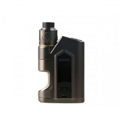 Authentic Nikola Niagara 200W VW Variable Wattage Squonk Box Mod + RDA Kit +6ml Bottle - Gun Metal