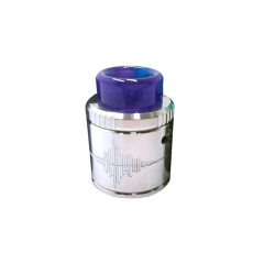 Authentic Mecanvape Voiceprint 24mm RDA Rebuildable Dripping Atomizer w/ BF Pin - Silver