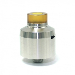 SXK Krma Style 22mm 316SS RDA Rebuildable Dripping Atomizer w/ BF Pin - Silver