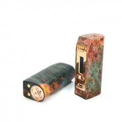 Authentic Yiloong Fog Box 75W DNA75 18650/20700 TC VW Variable Wattage Stabilized Wood Box Mod 1pc - Random Color