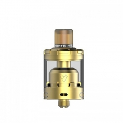 Authentic Advken MANTA MTL 24mm RTA Rebuildable Tank Atomizer 3ml - Gold