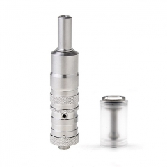 ULTON Fev vS Style 316SS RTA Rebuildable Tank Mouth to Lung Atomizer 17mm w/Bell Cap - Silver