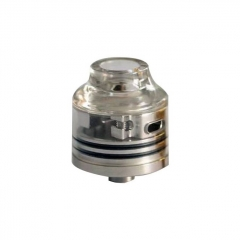 Authentic Oumier Wasp Nano Mini RDA Rebuildable Dripping Atomizer w/ BF Pin - Transparent + Silver