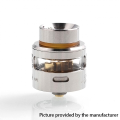 Authentic Fummy Maple Leaf 24mm RDA Rebuildable Dripping Atomizer w/ BF Pin - Silver