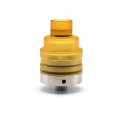 Lysen Vazzling Duetto Reborn Style 22mm RDA Rebuildable Dripping Atomizer w/ BF Pin - Yellow