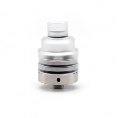 Lysen Vazzling Duetto Reborn Style 22mm RDA Rebuildable Dripping Atomizer w/ BF Pin - White