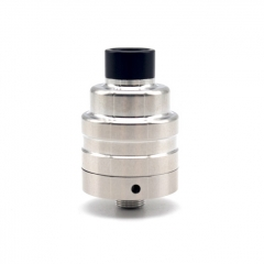 Lysen Vazzling Duetto Reborn Style 22mm RDA Rebuildable Dripping Atomizer w/ BF Pin - Silver