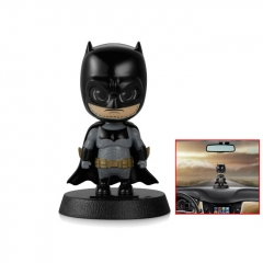 Solar Powered Batman Shaking Head Figurine Doll Ornament Auto Car Decor