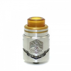 Authentic Cool Vapor Cavalry 24.5mm RDTA Rebuildable Dripping Tank Atomizer w/ BF Pin 3ml - Silver
