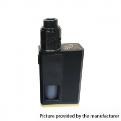 SOB V2 Style 18650 Squonk Mechanical Box Mod + Outlaw Style RDA Kit  w/8ml Bottle - Black