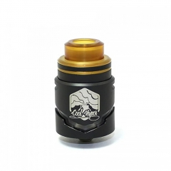 Authentic Cool Vapor Cavalry 24.5mm RDTA Rebuildable Dripping Tank Atomizer w/ BF Pin 3ml - Black