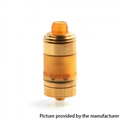 Coppervape Hussar Style 316SS 22mm RTA Rebuildable Tank Atomizer w/ Micro Tank 3.5ml - Gold