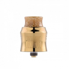 Recurve Style 24mm RDA Rebuildable Dripping Atomizer w/ BF Pin - Gold