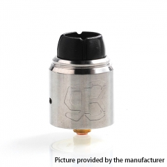 Authentic Lcovape 98K 24.5mm 316SS RDA Rebuildable Dripping Atomizer w/ BF Pin - Silver