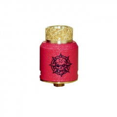 Authentic Riscle Pirate King 24mm RDA Rebuildable Dripping Atomizer w/ BF Pin - Red