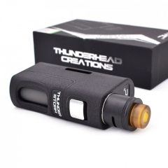 Authentic THC Thunderhead Creation Storm BF Squonker 18650/20700/21700 w/8ml Bottle Kit - Black