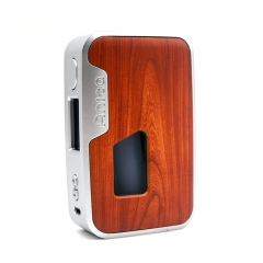 Authentic Arctic Dolphin Anita 100W TC VW Squonk Box Mod - Silver Frame + Red Wood