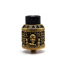 Authentic Riscle Pirate King 24mm RDA Rebuildable Dripping Atomizer w/ BF Pin - Brass