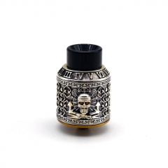 Authentic Riscle Pirate King 24mm RDA Rebuildable Dripping Atomizer w/ BF Pin - Silver