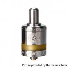 Authentic Asvape Zeta 22mm RTA Rebuildable Tank Atomizer 2.5ml - Silver