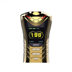 Pre-Sale Authentic Sigelei Sobra 198W TC VW Variable Wattage Box Mod (Electroplating Edition) - Gold