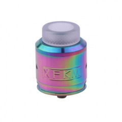 XFKM 24mm RDA Rebuildable Dripping Atomizer w/BF Pin - Rainbow