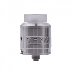 XFKM 24mm RDA Rebuildable Dripping Atomizer w/BF Pin - Silver