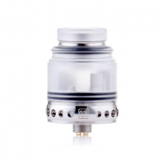 Authentic Hellvape Anglo 24mm RDA Rebuildable Dripping Atomizer w/BF Pin - Silver White