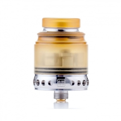 Authentic Hellvape Anglo 24mm RDA Rebuildable Dripping Atomizer w/BF Pin - White Yellow
