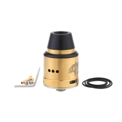 Vapebreed Atty V2 Style 24mm RDA Rebuildable Dripping Atomizer w/BF Pin - Gold