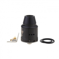 Vapebreed Atty V2 Style 24mm RDA Rebuildable Dripping Atomizer w/BF Pin - Black