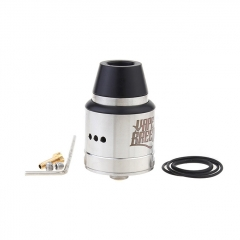 Vapebreed Atty V2 Style 24mm RDA Rebuildable Dripping Atomizer w/BF Pin - Silver
