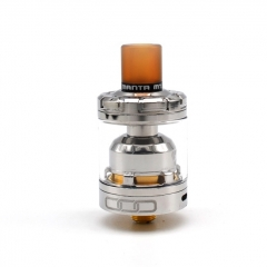 Authentic Advken MANTA MTL 24mm RTA Rebuildable Tank Atomizer 3ml - Silver