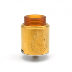 Phobia Style 24mm RDA Rebuildable Dripping Atomizer w/ BF Pin - Gold