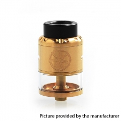 Authentic Asmodus Nefarius 25mm TF / BF RDTA Rebuildable Dripping Tank Atomizer w/ BF Pin 4ml - Gold