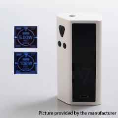 Authentic Desire Cut 108W 18650/21700 TC VW Variable Wattage Squonk Box Mod - White